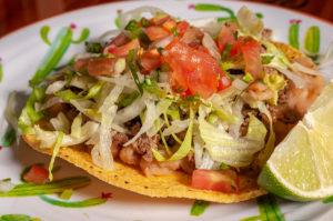 Ground Beef Tostada at Tacos San Miguel
