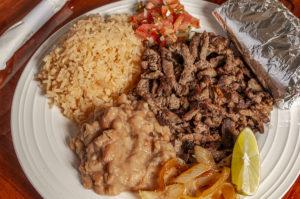 Tacos San Miguel Steak Plate